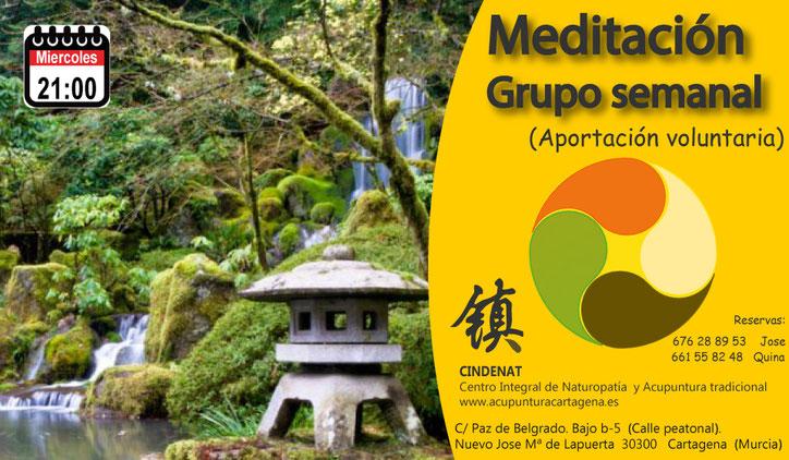 #CINDENAT. @acupunturacartagena. Meditación en grupo. Meditación. Relajacion.