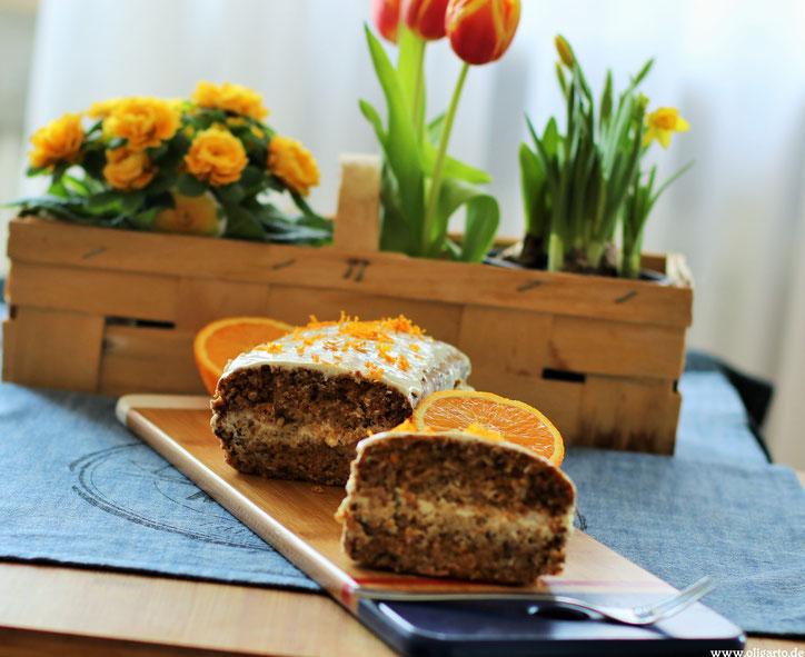 Karottenkuchen Backen Rezepte Olivenöl Oligarto Blogzine