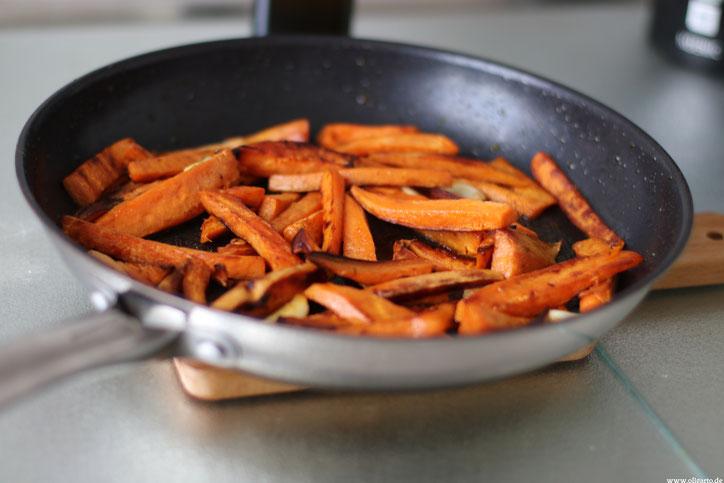 Süßkartoffel Pommes Rezept Olivenöl Oligarto