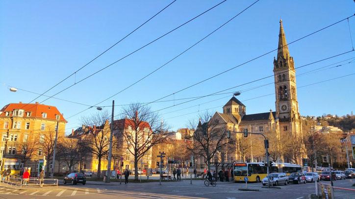 Площадь Erwin-Schoettle-Platz одна из наиболее целостных в городе