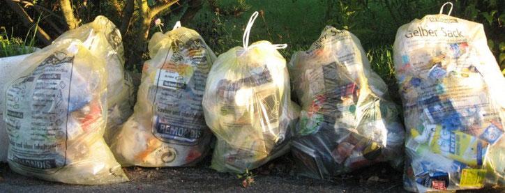Пропустив вывоз жёлтых мешков в своём районе, следующий придётся ждать ещё 3 недели
