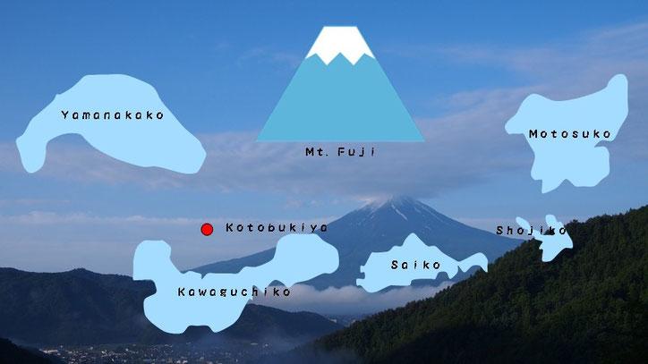 ほうとう寿屋、富士山、河口湖、山梨