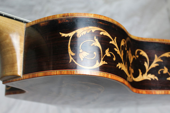Luigi Bariselli manouche guitar - wood inlays
