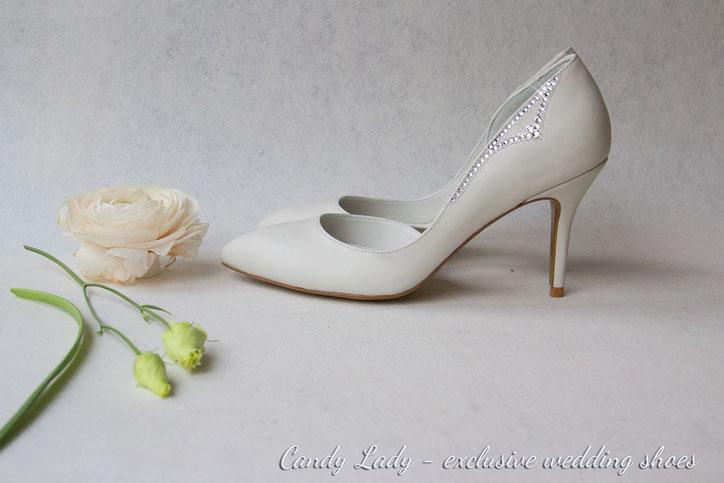 молочные свадебные туфли Киев Москва