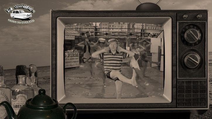 Crazy English teacher ZakWashington dancing on the beach with beautiful women.