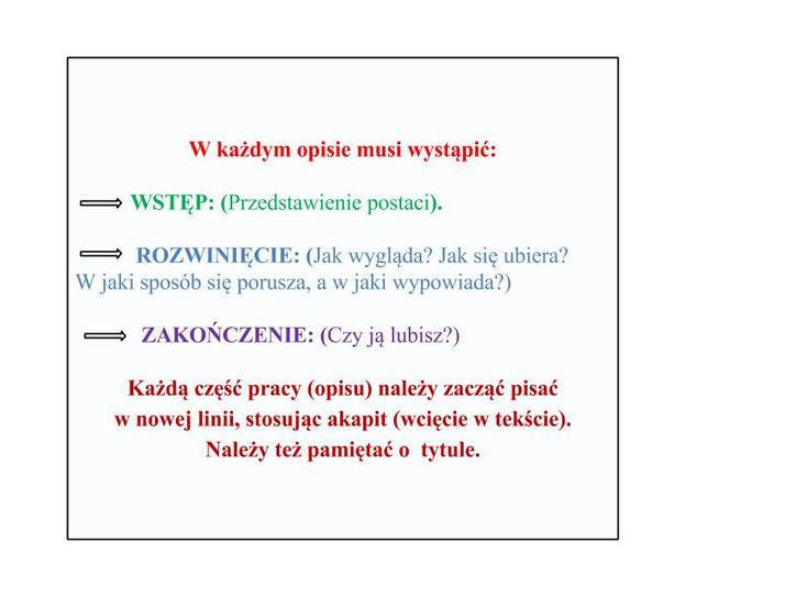 PISZEMY OPIS - zajecia3