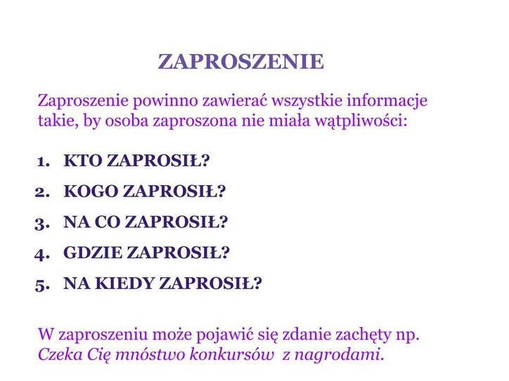 Piszemy Zaproszenie Zajecia3