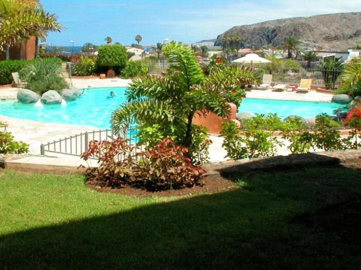 Luxusapartment für Ferienmiete mit beheiztem Pool im Süden auf Tenerife von Palm Mar .