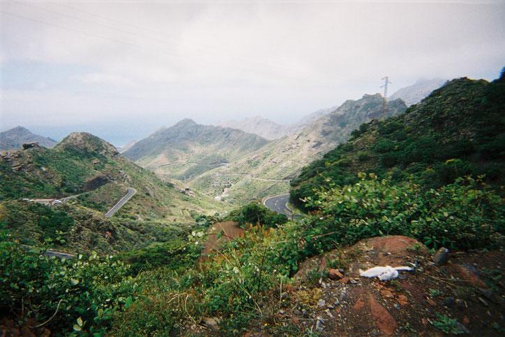 Das Teneogebirge im Westen der Insel Teneriffa.