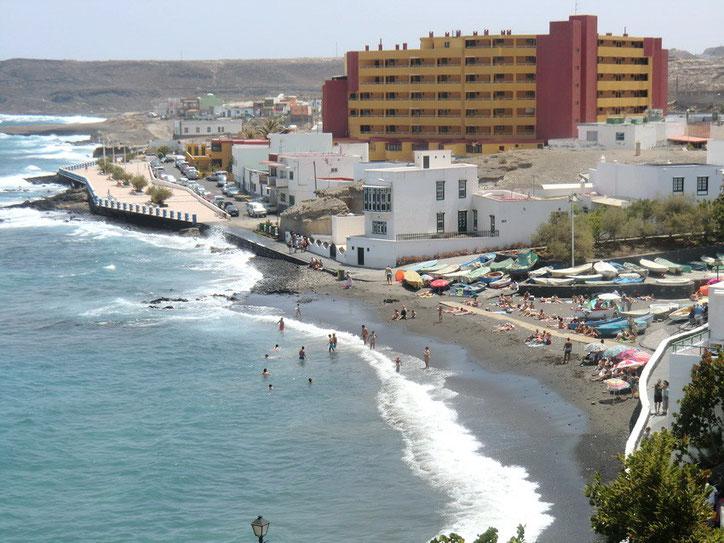 Strand im Ort
