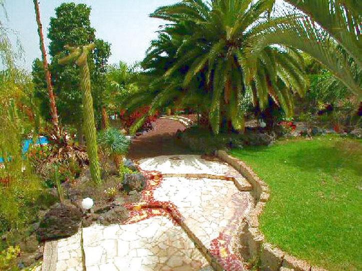 Park der Villa Tropical auf Teneriffa