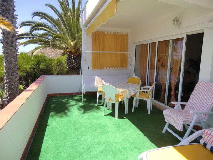 Ferienhaus Flores II in der Nähe von Los Christianos in La Florida auf teneriffa mit Terrasse, Internet und Meerblick