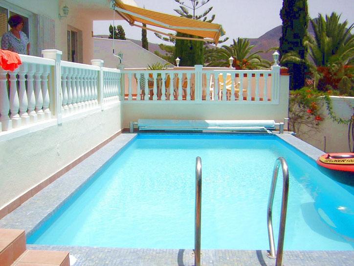 Pool Spass für die ganze Familie in der Villa in Chayofa