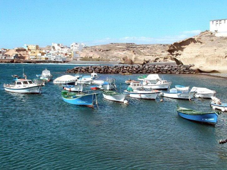 Hafen von Tajao auf Teneriffa im Süden der Insel-