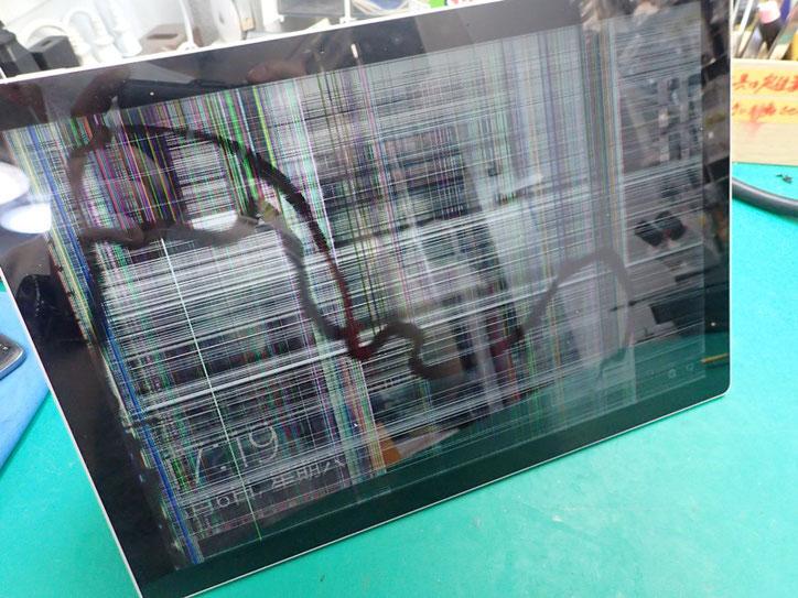 Surface Pro7ガラス割れでタッチできない