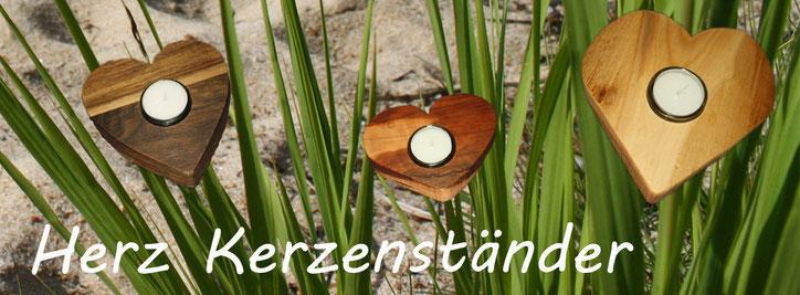 Herzkerzenständer | Teelichtkerzenständer | Teelichhalter | Design Kerzenständer | Massives Nussbaumholz | www.blaser-design-bern.ch