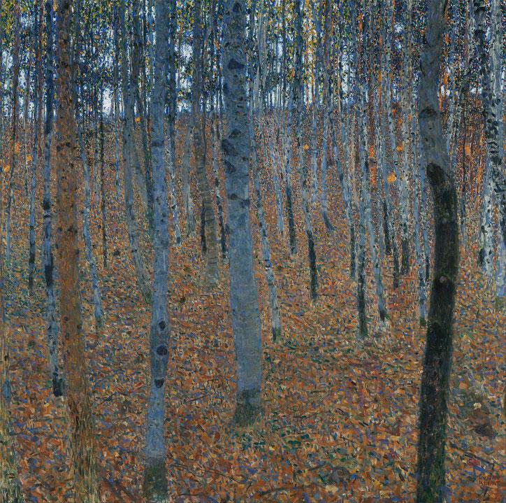 """Gustav Klimt, """"Bosco di betulle"""" (1902)"""