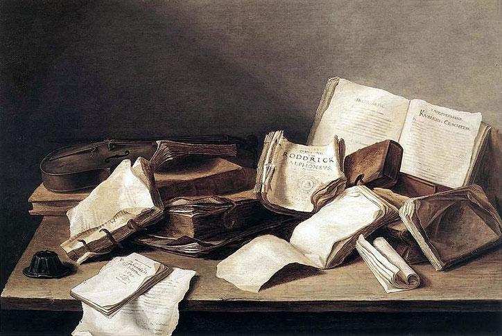 """Jan Davidsz. de Heem, """"Still-Life of Books"""""""