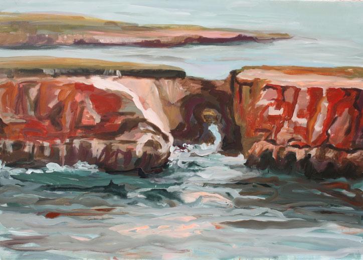 Coast I, 2017 Acryl auf Leinwand 100x140
