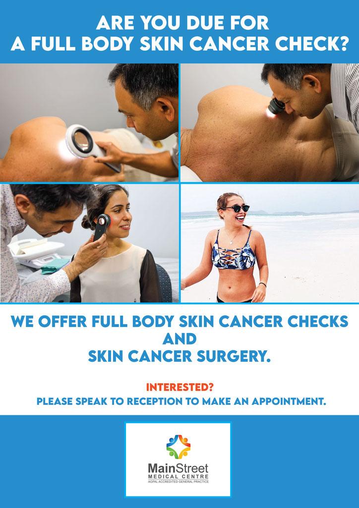 Hervey Bay doctor skin cancer check GP