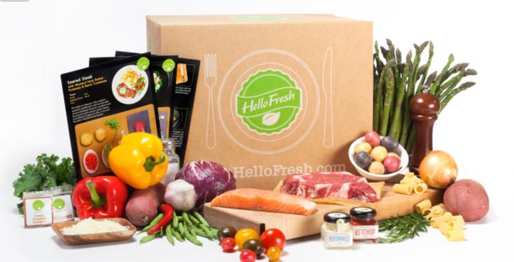 Hello Fresh отправляет по почте набор продуктов для готовки еженедельно за 45€ к вам домой