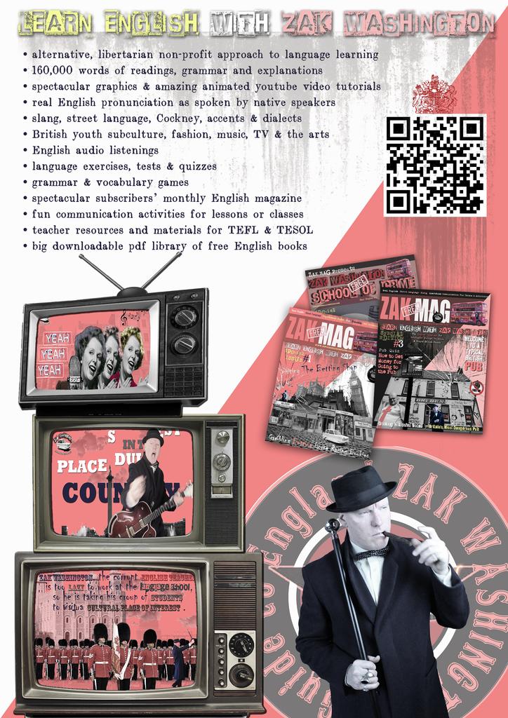 ZakWashington advertising flyer with logos and description