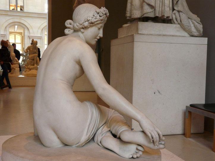 ... La nymphe Salmacis  sculpture marbre femme nue assise nouveausculpteur chefs-d'oeuvre de la sculpture.