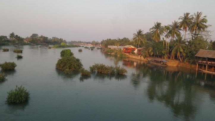 Schöne Atmosphäre am Mekong