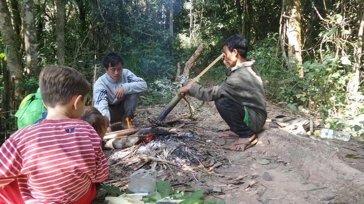 Kochen im Urwald