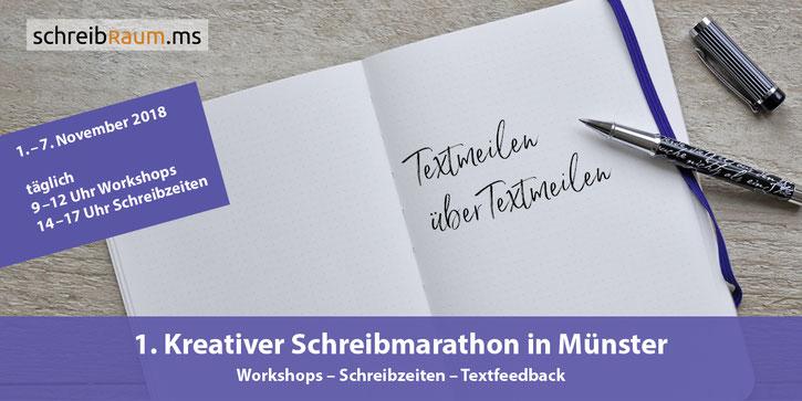 Dr. Eva-Maria Lerche, Flyer, kreativer Schreibmarathon