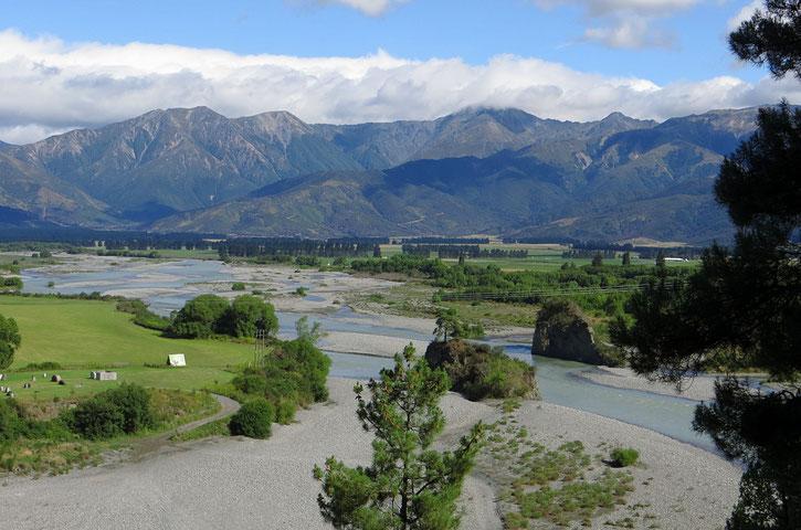 Hanmer River in der Nähe von Hanmer Springs.