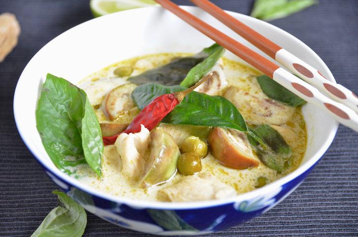 Grünes Thai Curry Rezept, lecker, schnell und einfach!