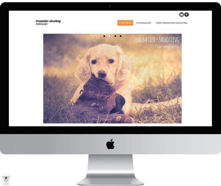 ehemalige tierfotografie website von VISOVIO: traumtier-shooting.de