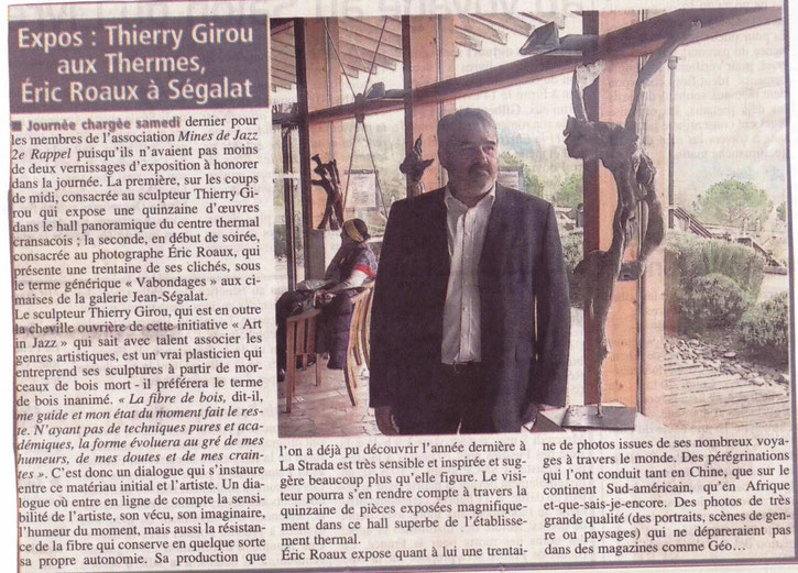 """Articles : """"Centre Presse, Midi Libre"""" Publié le 22 Avril 2013"""