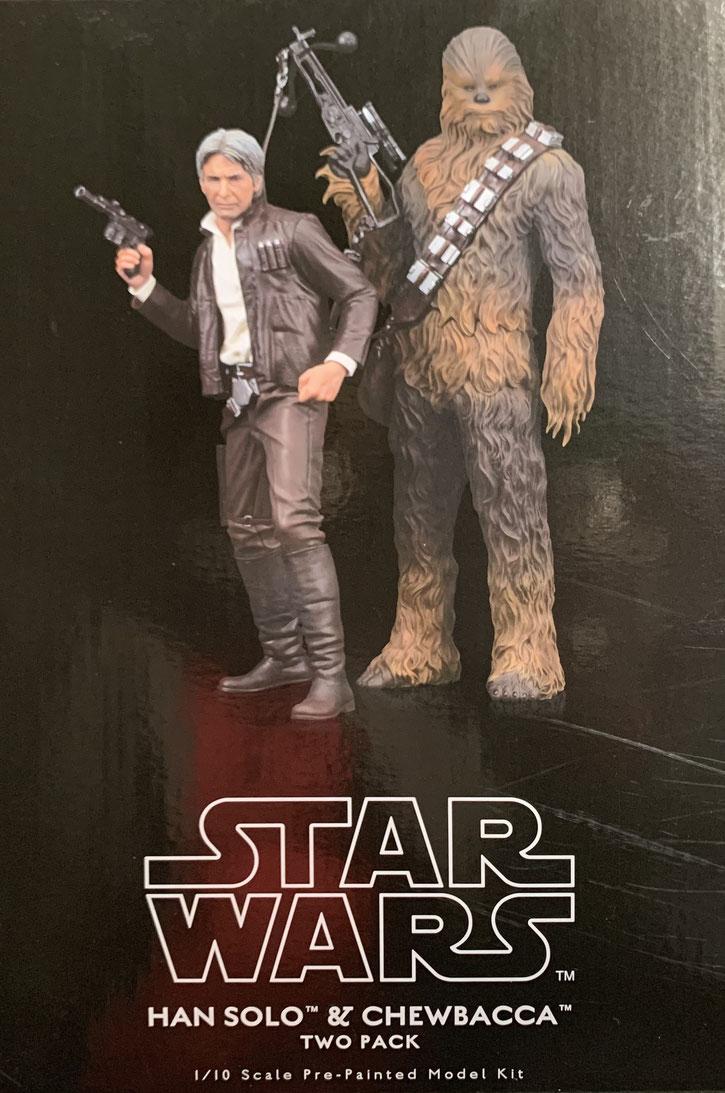 Han Solo & Chewbacca 1/10 Doppelpack Star Wars Episode VII ARTFX+ Statuen 20 - 23cm Kotobukiya