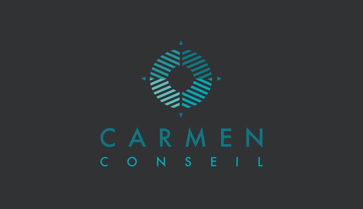 Studio Bel-Camille a créé le logotype de l'agence Carmen Conseil