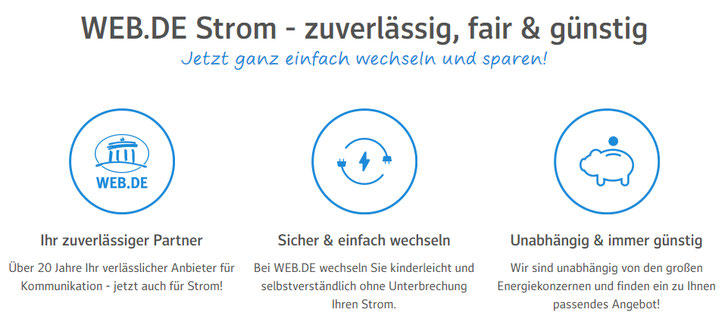 Web.de Strom - zuverlässig, fair & günstig