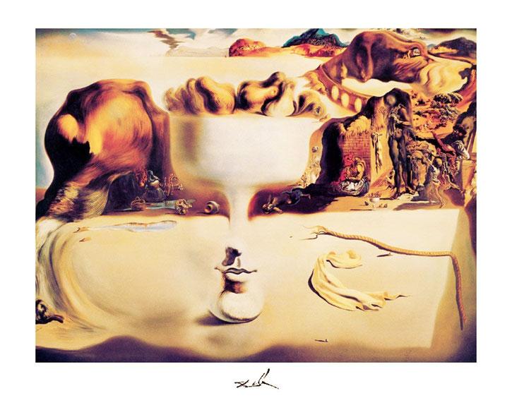 """S. Dalí, """"Apparizione di un volto e di una fruttiera sulla spiaggia"""" (1938)"""
