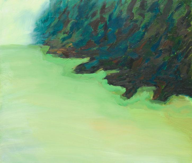 Paysage gauche, 2018, Acryl auf Leinwand, 60x70