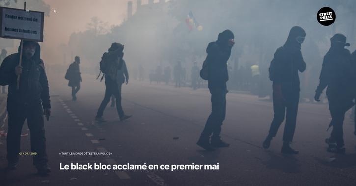 Reportage photographique 1er Mai 2019 pour street press, Léo Derivot