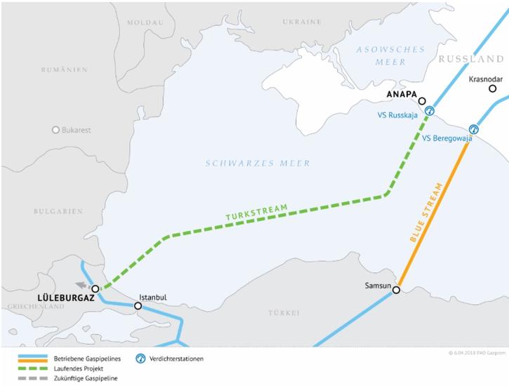 Gazprom - Turkstream - Bildquelle gazprom,com