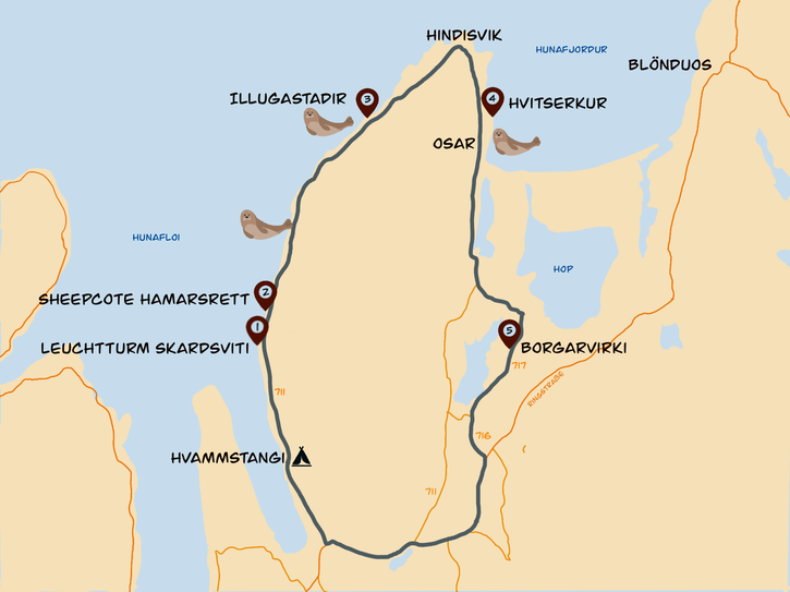Vatnsnes Karte