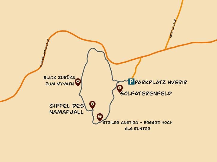 Namafjall Karte
