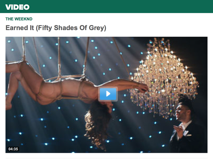 Earned It - by The Weeknd - Video and Soundtrack of FIFTY SHADES OF GREY - Universal Music