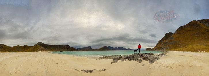 Haukland Beach_Norwegen_Lofoten_Wohnmobil_Hund