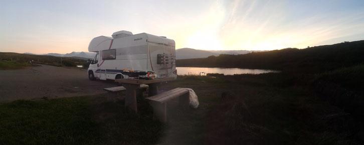 Schottland_Die Roadies_Wohnmobil_Kilt Rock_Isle of Skye_Campen_Hund