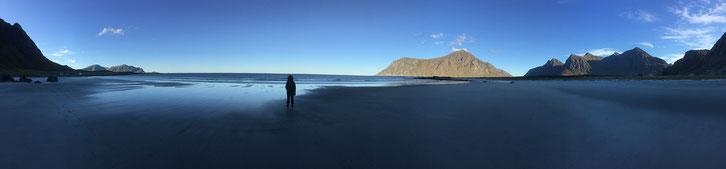 Skagsanden Beach_Norwegen_Lofoten_Wohnmobil_Hund