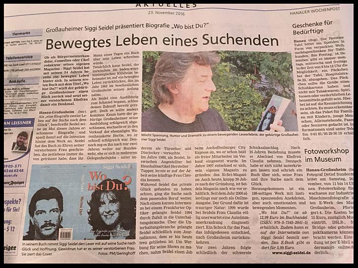 Siggi Seidel, Presse, Hanauer Wochenpost