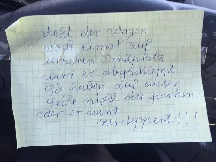 Drohbriefe, Sachbeschädigung, Kfz-Sachbeschädigung, Detektei Dortmund