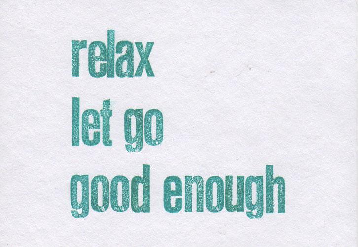 """relax"" // 16 x 11,2 cm // 5 €"